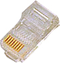 P-U5883R RJ-45 Plugg UTP HP Rund for Stranded/Solid Cat 5e