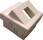 Brikke 45x45 skrå for 1 port  RJ45 RAL 9010